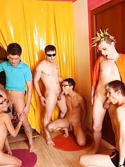 All male nudist groups at Crazy Party Boys