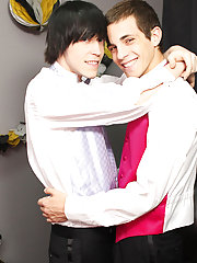 When the emo twink rides his prom date, Conner gives him the reach around; wanking Tyler's jock as this chab bounces on his dick gay twink freevi