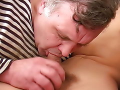This guy was caught right in the centre of his sinful deed, and his older lover, not wanting him to waste the semen, started sucking on his swelling c