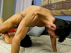 He paddles the bound chap until his booty is red previous to freeing him from some of the restraints so this guy can feed him his cock ryan biggs movi