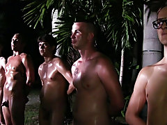 The point of this was to show their strength and courage: if they failed and their wazoo touched the sextoy they were fucked naked men fucking in grou