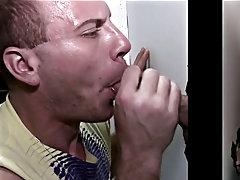 Guy gives buff black money for blowjob and uncut gay boy blowjob