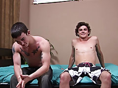 Bobby didn't want to try again but said that he had improved his skills since the first time he tried deep throating hardcore gay men male video