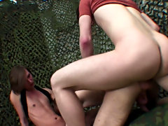Sucking two dongs at once and taking a hard DP is not something you'd usually await from a cute slender twink, but this queer lad is really speci