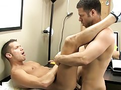 The desk squeaks along with Shane&#039;s moans as Tristan drills his ass with his thick dick gay bear tracks dvd at My Gay Boss