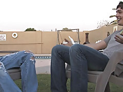 This is starting to get really hot gay outdoor orgies at Broke College Boys!