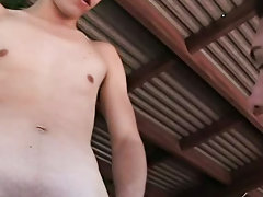 Twink boy bound and gagged and twink panties blowjob