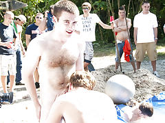 The winners of course were excempt from hell week but the losers had to pay the ultimate price male group shower