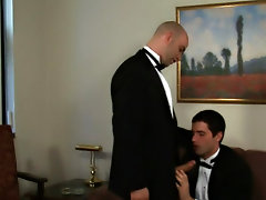It's a black tie down fling when Sam Swift and Johnny Maverick collide in their primary still two man dick dance amatuer gay hunks