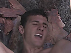 After Caleb gets his load off Danny kneels by his ass an jerks his boy cock distant until he covers Caleb in a sensitive batter as wholly wet nude mal