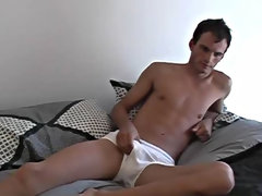 Laying there on the bed jerking off, he seemed to around enjoying it first time gay black twinks