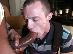 I promise all you lads out there will drool watching this large black sausage cracking some asshole open