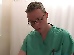 I started to jack off and the doctor did as well next to me first anal gay