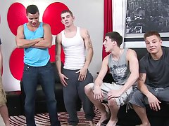 Fully erect twinks and freshman gay blowjob trailers