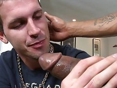 After a scarcely any moments this chab submitted the ass and it was on, Castro had no problem stuffing his massive dark cock up Logans taut little ass
