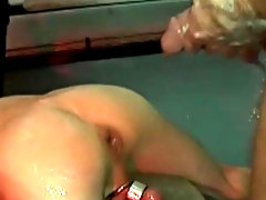 With the filthy women on the munitions dump covers getting them hard, it is Mike that gets hard first and pushes a hungry Darren down onto his edibles