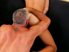 Old man hairy ass pick and masturbation in group gay photos at Bang Me Sugar Daddy
