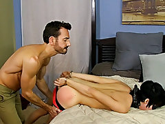 When Bryan Slater has a stressful day at work, this chab comes home and takes it out on his little slave boy, Kyler Moss hardcore kinky gay sex at Ban