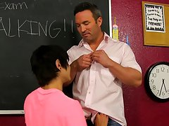Scott Alexander's out of time on his final exam, but he is prepared to work over his teacher, Brock Landon amtuer gay twink at Teach Twinks