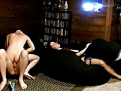 Gays twink in short shorts and hard gay twinks sex - at Boy Feast!