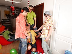Naked male celeb groups and yahoo group gay bukkake at Crazy Party Boys