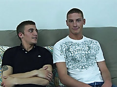 Standing up on the futon, his dick in a direct line with Scott's straight boy mouth, Ryan sighed as Scott slid the cock into his mouth free gay b