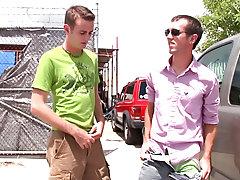 Joey offers Matthew some cash to suck Logans cock outdoor nude man