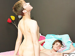 Timo Garrett gets home to find Tommie Reed ready for his hot cock asian gay twinks at Boy Crush!