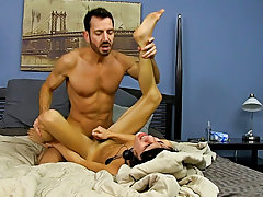 After fucking the cum out of Kyler, he gives him a facial before tucking him back into his closet for later hardcore free gay sex pics at Bang Me Suga