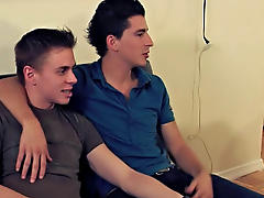 Our man Sam found this cute twink couple snapping some pics so he invited them back to his place to take some more intimate shots amateur straight guy