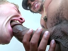 Boy oh Boy... Break out the lube cause you guys are gonna love watching two hung black guys stuff this little white dudes holes hot guys big dick