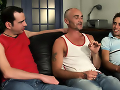 His first huge cock gay bj group