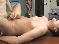 Preston wants a blowjob from his partner and he gets one, his big twink cock growing as the warm mouth seals around it and sucks lustily daddies with