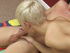 Jordan ends by eating both loads blonde gay twinks at Boy Crush!