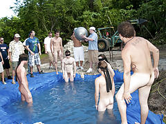 I mean its not embarrassing enough playing naked in a nasty fake pool free gay group sites