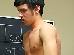 The scene ends with a facial for both Ryan and Kyler asian gay twink at Teach Twinks