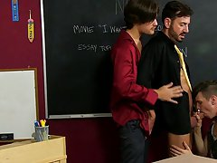 Emo boys anal tubes at Teach Twinks