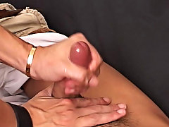 He started to groan and jerk and out poured his massive cumload