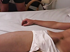 Once I got it where I wanted it I took his blindfold bad so he could see me jerking on his cock with his balls and cock in that cock ring men discussi