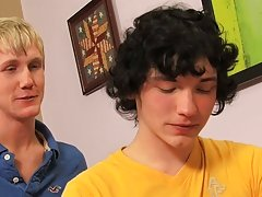 The boys swap blowjobs and 69 before curly haired Josh Bensan sticks the pretty blonde with his hard cock gay twinks video
