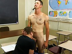 Twink using a fake dick and gay twinks strip basketball at Teach Twinks