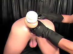Doctor started to play with my cock, touching it gently, but knowing what this guy was doing