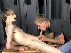 They blow each other fiercely before Preston uses his wet cock to fuck Kayden right there in the locker room first gay masturbation at Teach Twinks