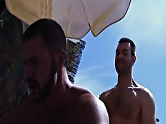 After not having much luck in the sand dunes of Gran Canaria, this hairy hunk heads back to the hotel and finds exactly what he's looking for gay