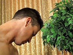 Jacob cums while sitting on his schlong before getting on the floor to let Danny discharge his sperm all over his back