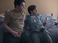 Eventually James climbs on Chad's dick, cumming while that guy rides it free solo amateur gay twin - at Boy Feast!