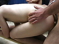 They wrapped things off in the locker room where the two losers had to fuck and suck groups of men naked in th