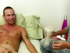 Mr. Hand helps him get without his overweight clothes, and starts to wank on that uncut dong of Cory's