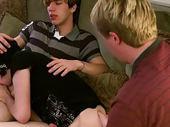 Male anal fuck orgasm and guys that take big dick for the first time - at Boy Feast!