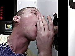 Teen lad getting blowjob for first time and gay blowjobs panties